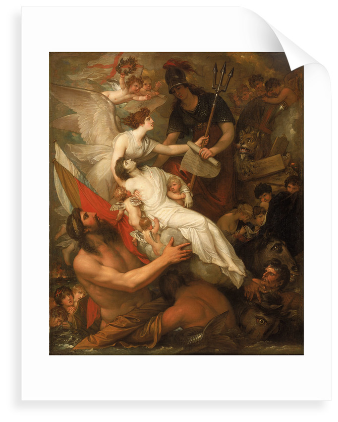The immortality of Nelson by Benjamin West