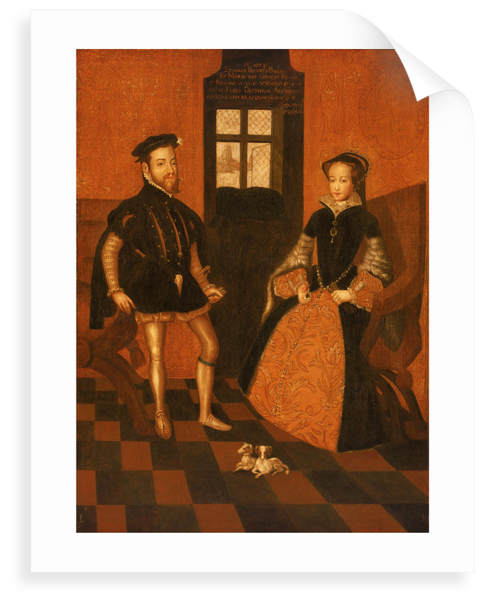 Mary I of England (1516-58) and Philip II of Spain (1527-98) by English School