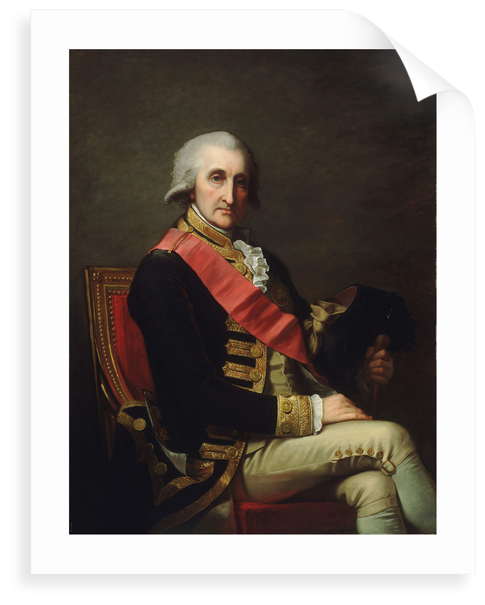 Admiral Lord George Brydges Rodney, 1st Baron Rodney (1719-1792) by Jean-Laurent Mosnier