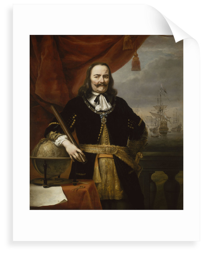 Michiel Adriaenszoon de Ruyter, Lieutenant-Admiral-General of the United Provinces (1607-1676) by Ferdinand Bol