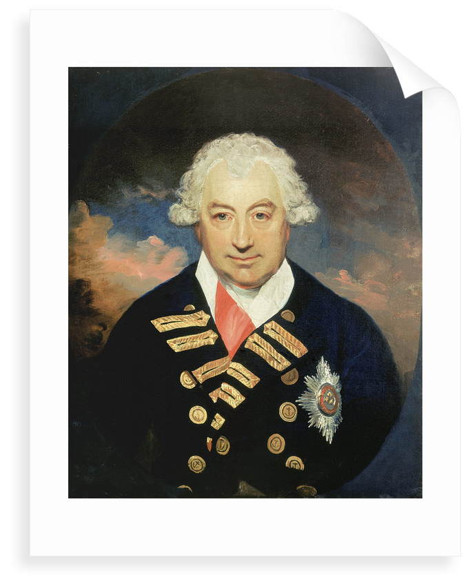 Rear-Admiral Sir John Jervis, 1st Earl of St Vincent (1735-1823) by William Beechey