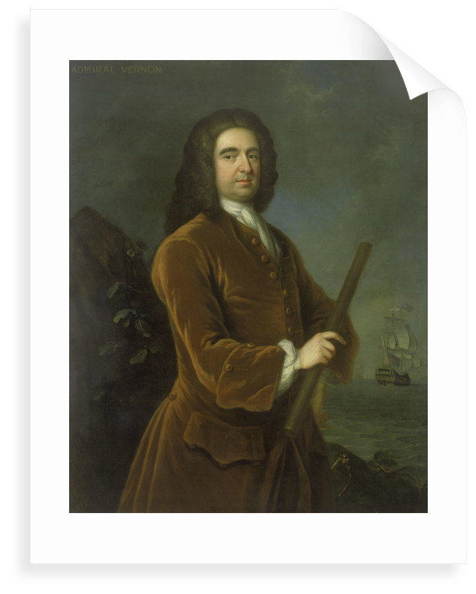 Admiral Edward Vernon (1684-1757) by Charles Philips