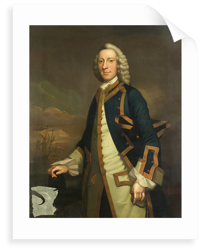 Portrait of a captain by John Wollaston
