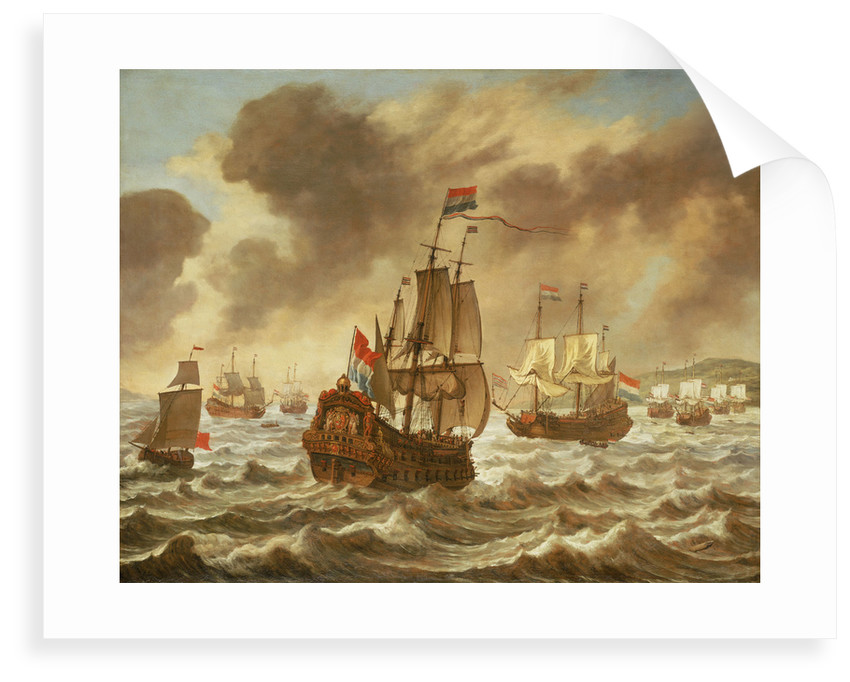 Before the Battle of the Downs, 21 October 1639, showing Tromp's Flagship ''Amelia'' by Reinier Nooms