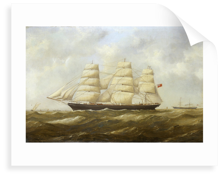 The ship 'Halloween' (1870) under way by British School