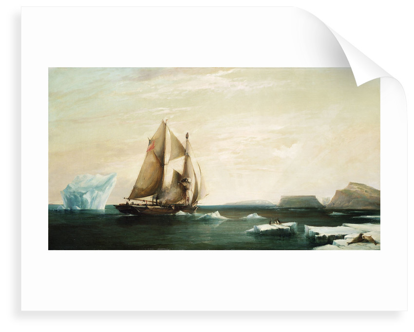 The yacht 'Isabel' on the first voyage into Smith Sound by George Chambers the Younger