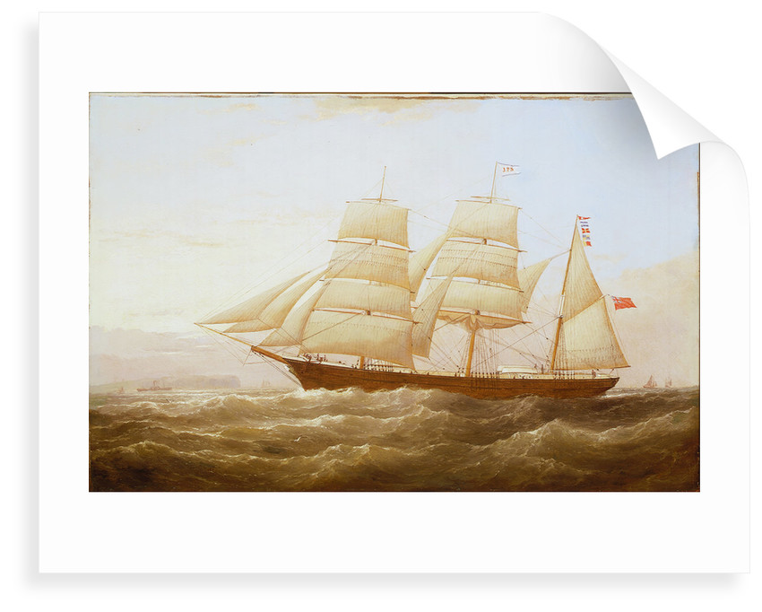 The barque 'J P Smith' by Samuel Walters
