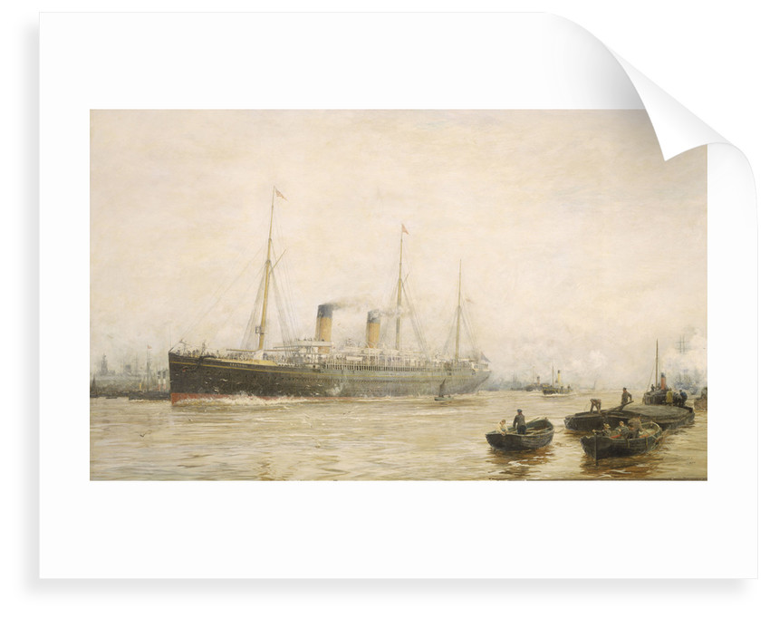 The 'Teutonic' leaving Liverpool by William Lionel Wyllie