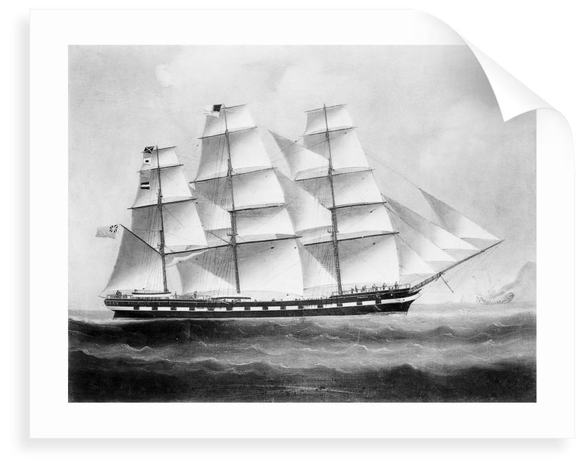 The ship 'Tyburnia' (1857) by British School