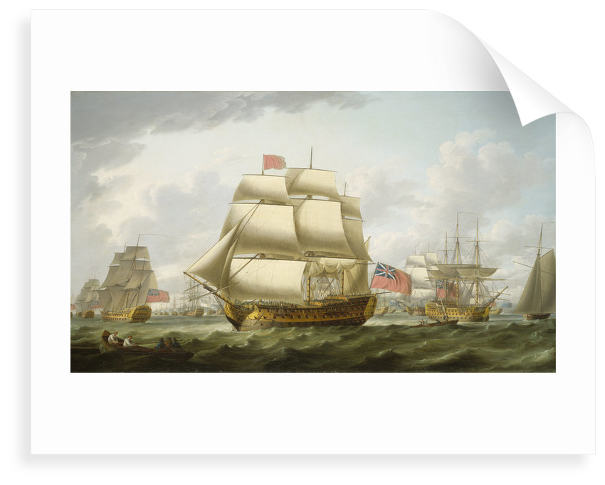 The 'Victory' sailing from Spithead by Robert Dodd