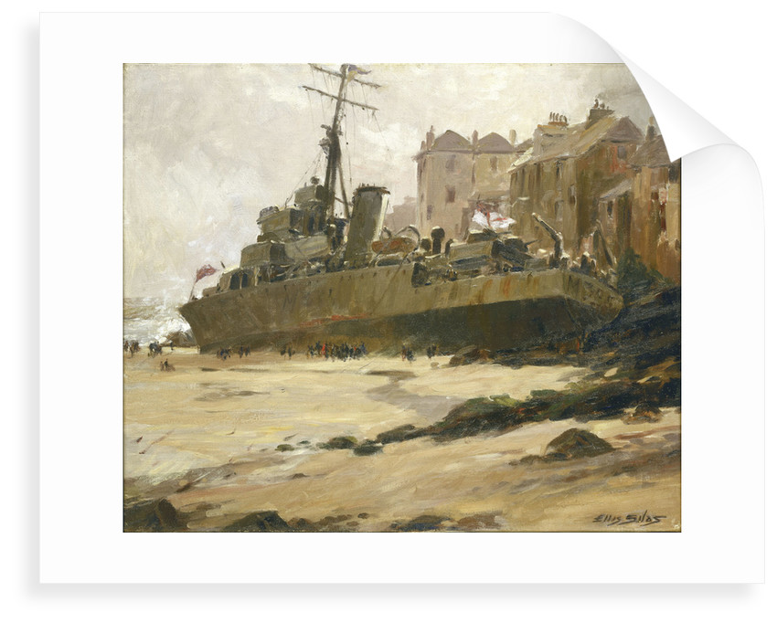 HMS 'Wave' Ashore at St Ives, 1952 by Ellis Silas