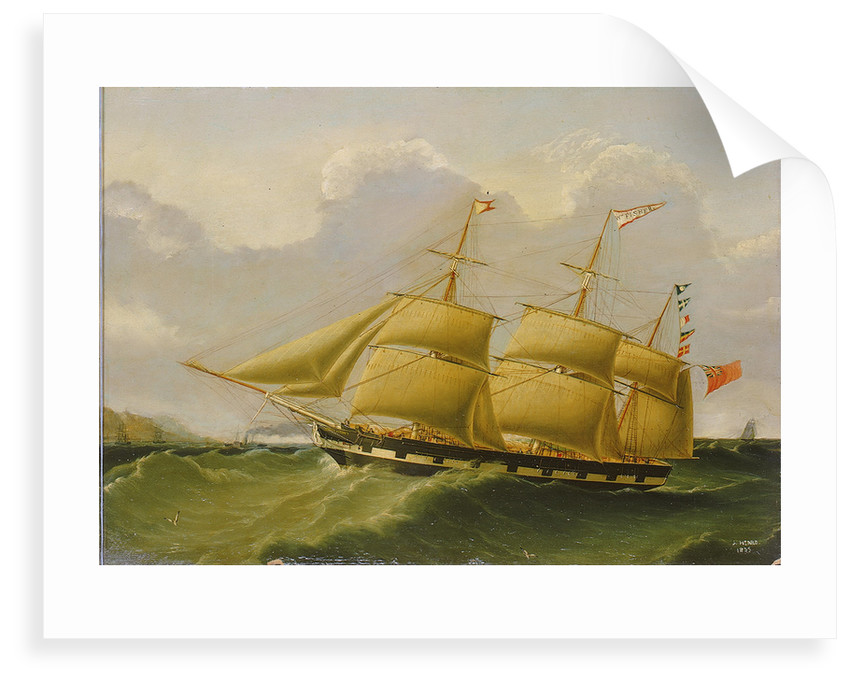 The barque 'William Fisher' by Joseph Heard