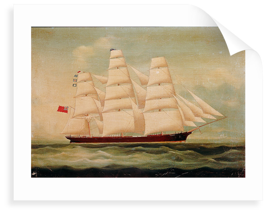 The ship 'Windhover' by British School
