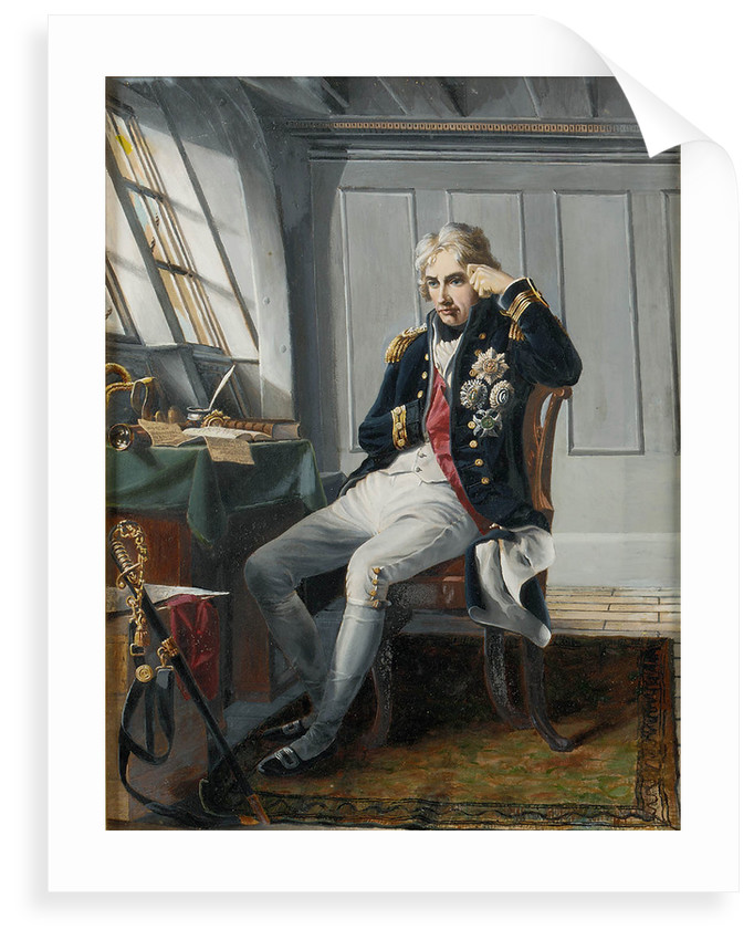 Viscount Horatio Nelson (1758-1805), before the Battle of Trafalgar, 21 October 1805 by George Lucy Good