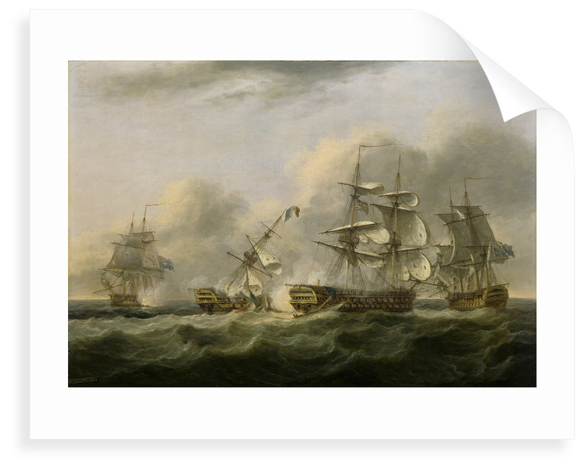 The capture of the 'Guillaume Tell', 30 March 1800 by Thomas Luny
