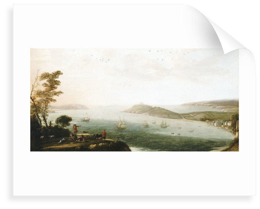 A view of Falmouth harbour by Hendrick Danckerts