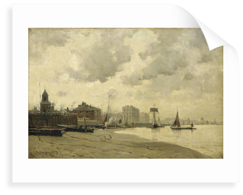 Greenwich ferry by E. Aubrey Hunt