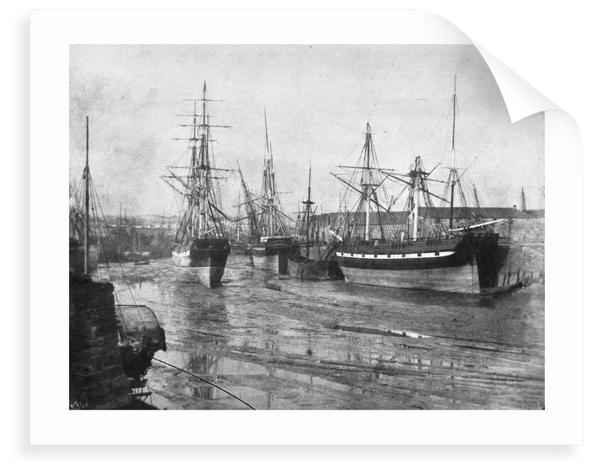 Shipping at low tide, Swansea by unknown