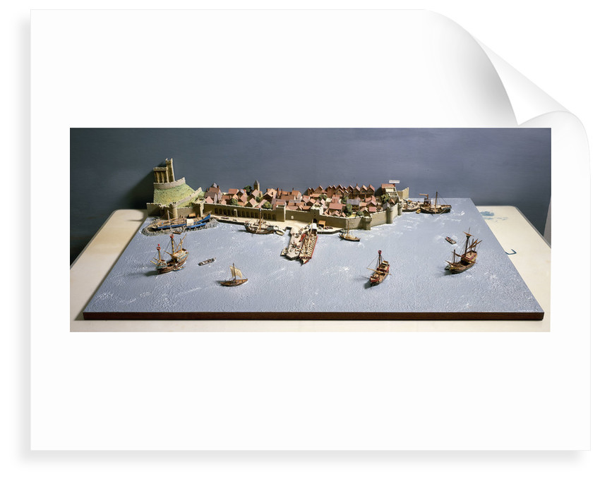 Topographic model, Port of Southampton by Kenneth Britten
