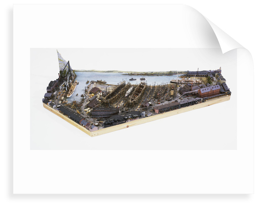 Topographic model, Denny's shipyard, Dumbarton by Michael K. Buxton