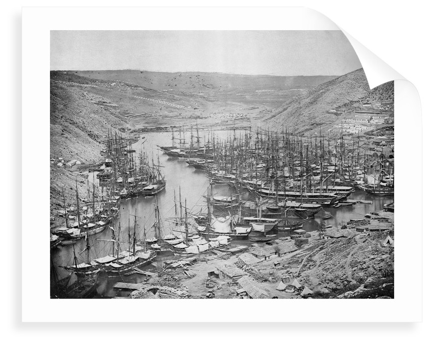 British Ships at Balaclava, 1855 by unknown