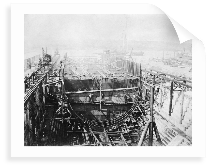 HMS 'Achilles' (1863) under construction at Chatham Dockyard by unknown