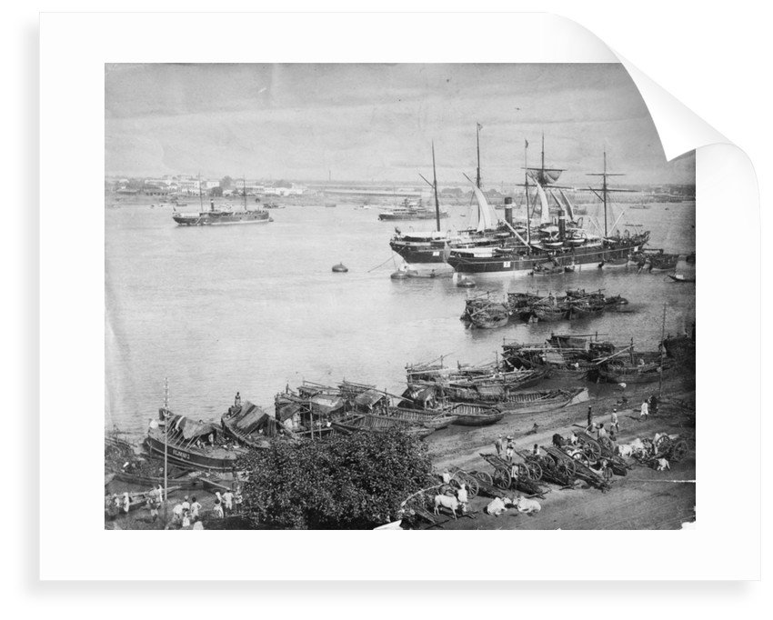 The port of Calcutta, circa 1870 by unknown