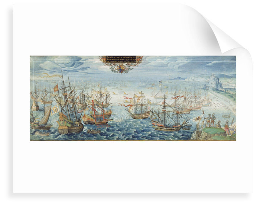 The Spanish Armada in the Strait of Dover, 1588 by Flemish School