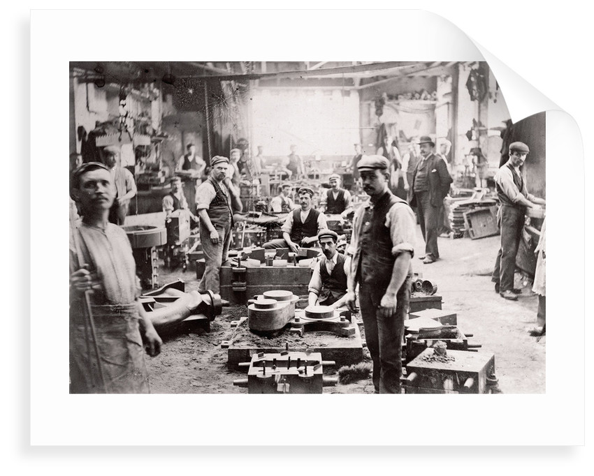 Engine component workshop, Thames Iron Works by unknown