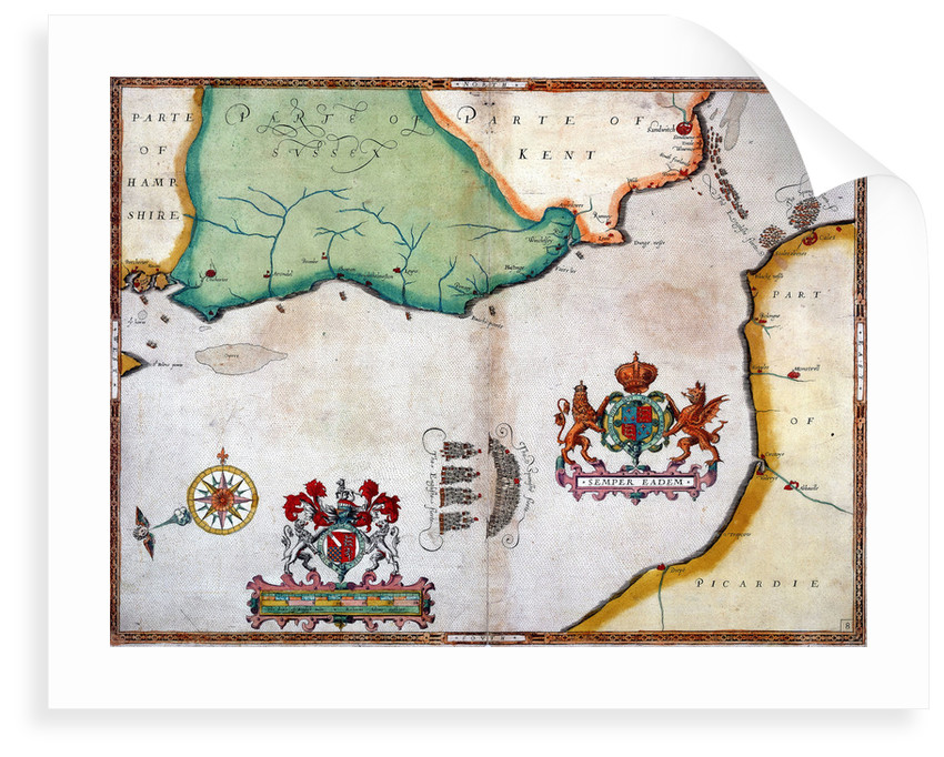 Lands End to Start Point: The arrival of the Spanish Armada off Cornwall by Robert Adams