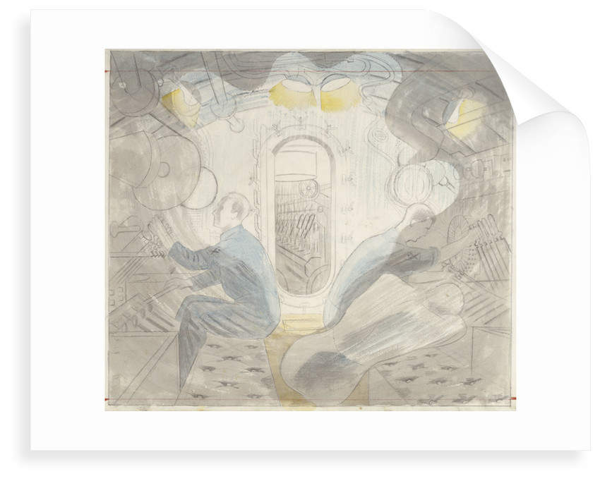 Submarines Series: Diving Controls 2 by Eric Ravilious