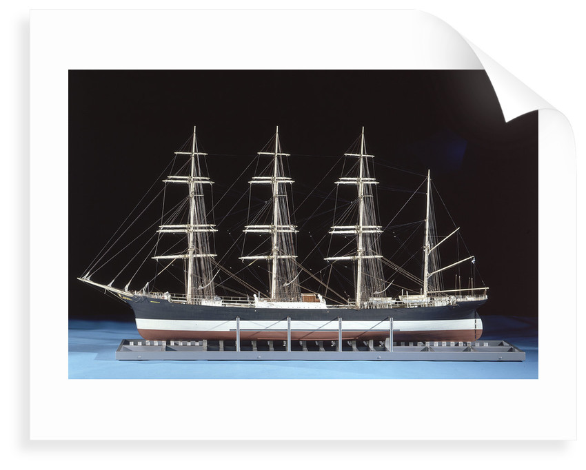 Model of four-masted barque 'Moshulu' (1904) by Donald Bradley