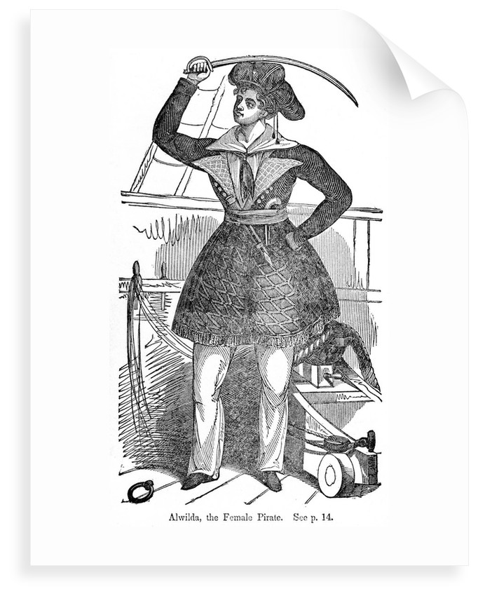 Alvilda, one of the first female pirates by unknown