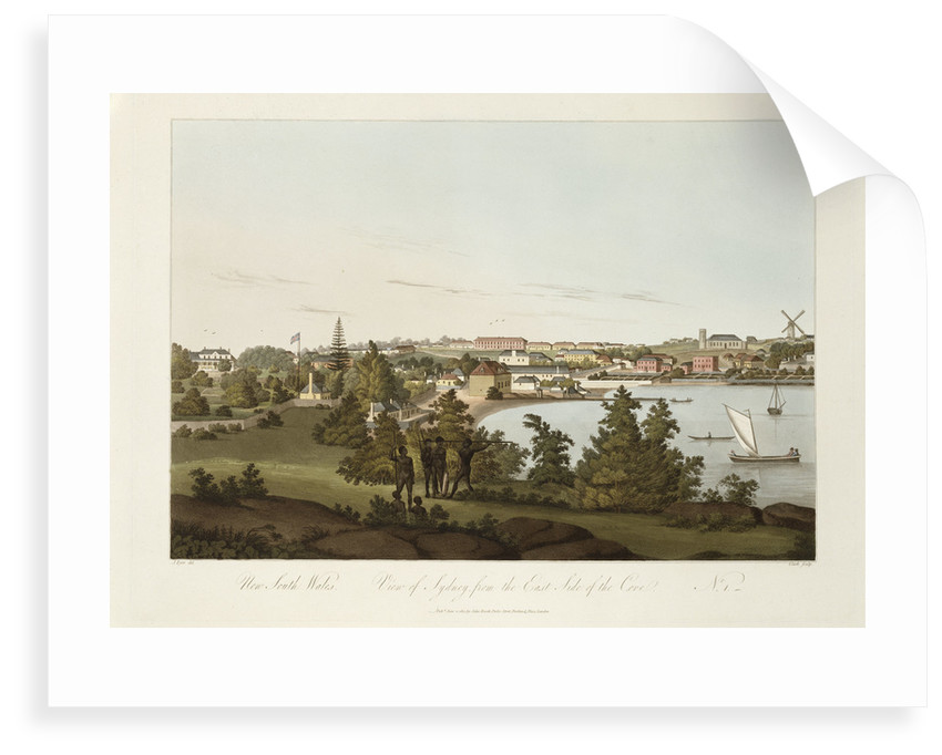 New South Wales, view of Sydney from the Eastside of the Cove, No 1 by J Eyre