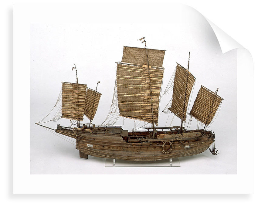 Chinese Junk, starboard broadside by unknown