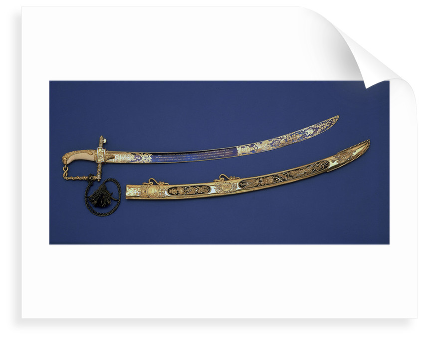 Lloyds Patriotic Fund Õú100 Presentation Sword by R. Teed