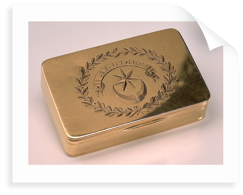 Gold snuff box by Alexander James Strachan