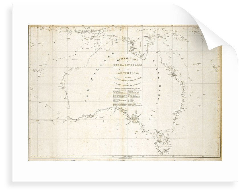 Map of Australia by Matthew Flinders