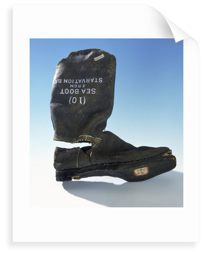 Sea boot from Franklin's last expedition which was retrieved in 1879 by unknown