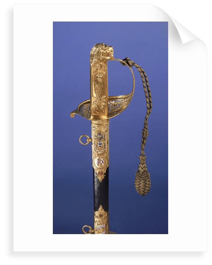 Presentation sword, which belonged to Admiral of the Fleet Sir John Rushworth Jellicoe (1859-1935) by Goldsmiths & Silversmiths Company Ltd.