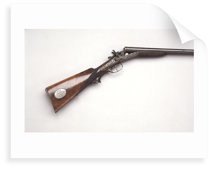 Double barrelled shotgun owned by the Sultan of Witu by W. Foerster
