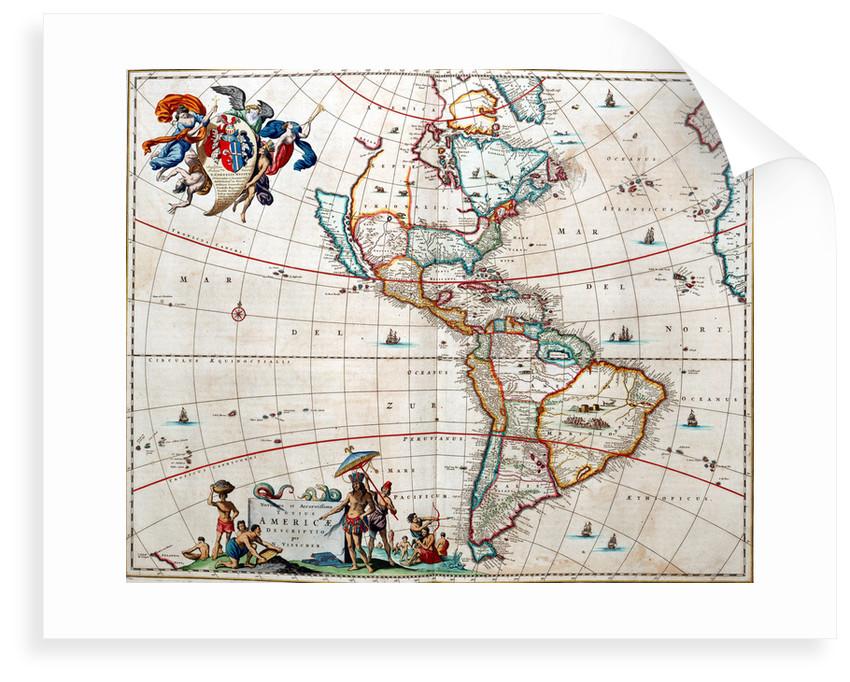 Sheet from Bleau's 'Atlas of the Americas' by John Blaeu