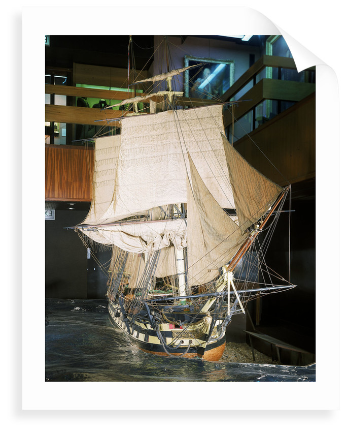 Contemporary full hull model of the 'Cornwallis' (1813), a 74-gun two-decker ship of the line, built plank on frame by J. Bomajee