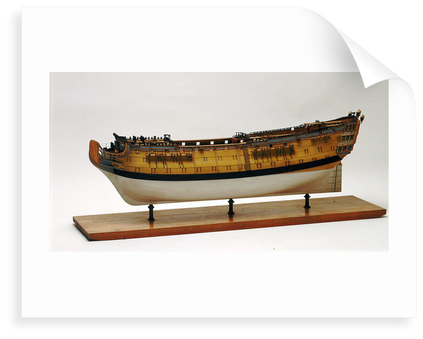 A full hull model of a second rate warship, 90 guns by unknown
