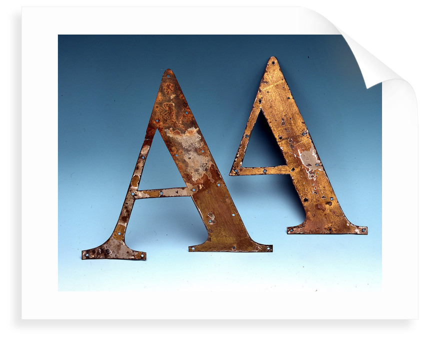 Tin letters by unknown