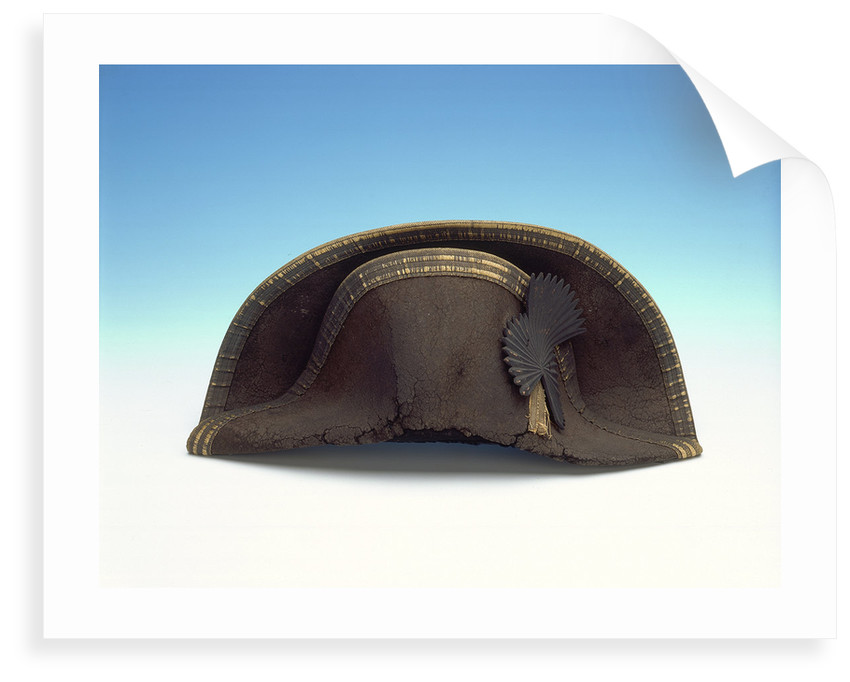 Bicorn hat worn by Lord Nelson by unknown
