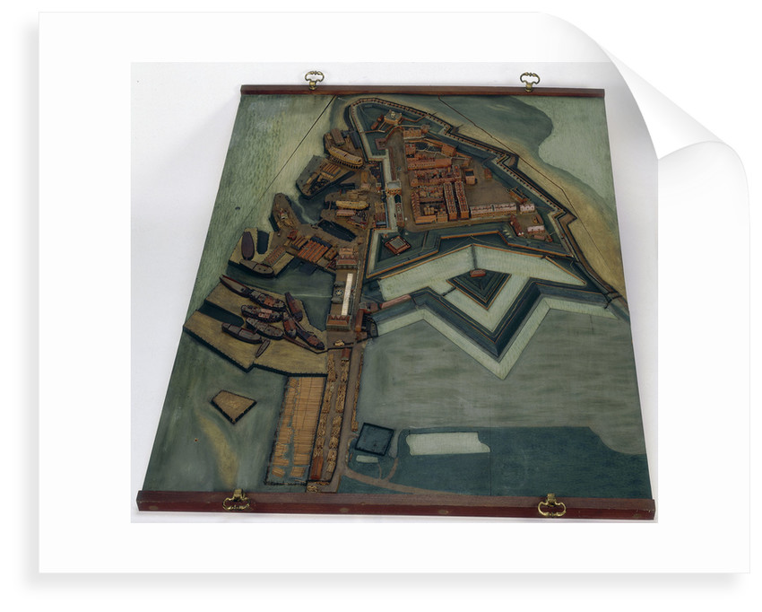 Topographic model, Royal Dockyards at Sheerness by George Stockwell