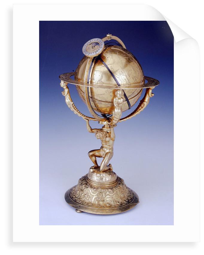 Celestial clockwork globe by Isaac Habrecht II