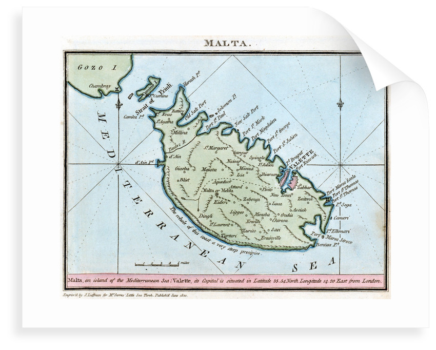 Chart of Malta by R. Bougard