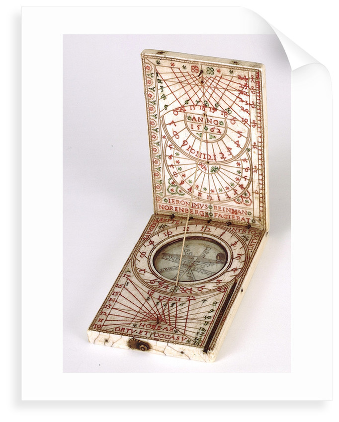 Diptych dial, leaves Ib and IIa by Hieronymus Reinman